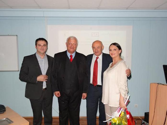 Prof. Dr Habil dr Wolfgang Rohrbarch | Zorica L Šipovac | Nebojša Đurović | Nenad Srećković | Promocija knjiga o istoriji osiguranju | Novi Sad